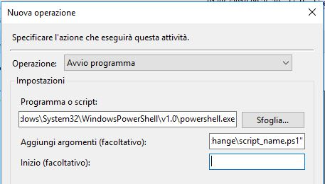 How to schedule an exchange powershell script with task